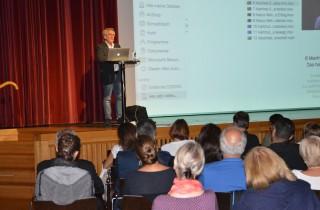 Vortrag von Reinhard Kahl im Reichshofsaal in Lustenau