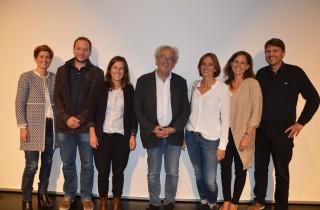 Vorstand des Vereins Gemeinsam Zukunft Lernen mit dem Referenten Reinhard Kahl sowie Bürgermeister Dr. Kurt Fischer.